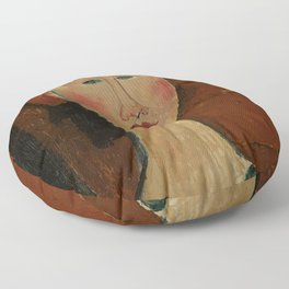 """Amedeo Modigliani """"Femme aux cheveux rouge (Woman with Red Hair)"""" Floor Pillow"""