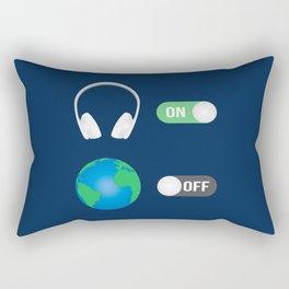 The Music Switch Rectangular Pillow