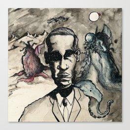 HP Lovecraft: Master of Strange Canvas Print
