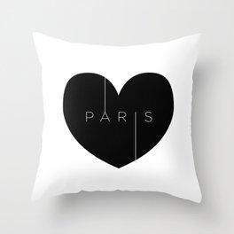I left my heart in Paris Throw Pillow