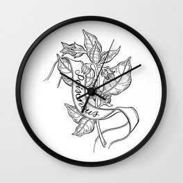 Deadly Nightshade Botanical Illustration Wall Clock