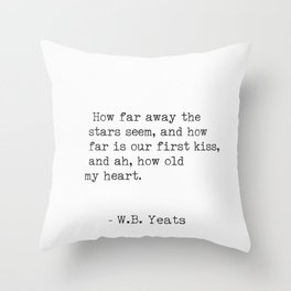 William Butler Yeats 3 Throw Pillow