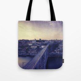 Porto across the bridge. Tote Bag