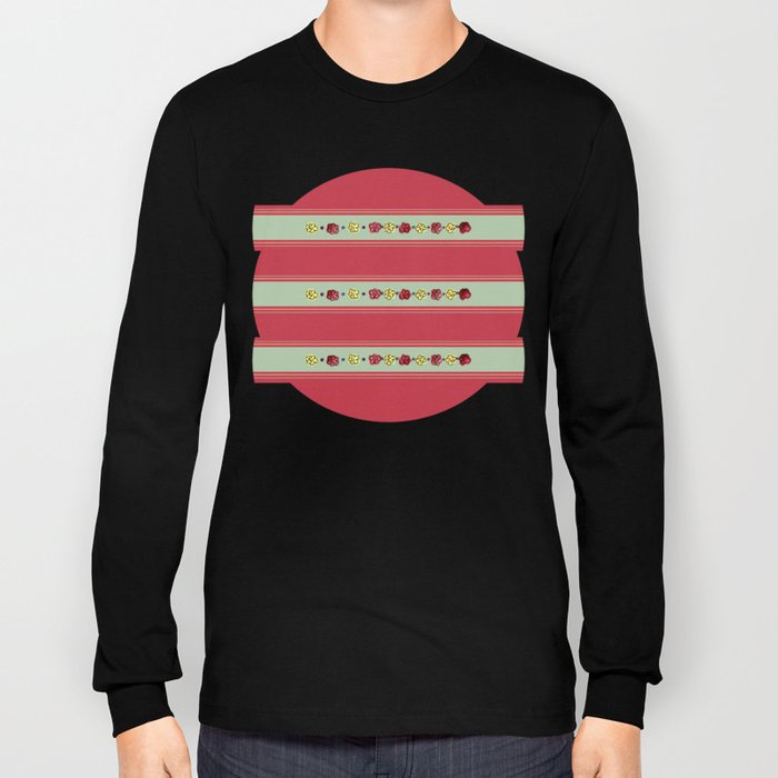 A Rosey Outlook Red Long Sleeve T-shirt