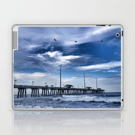 Jennette's Pier at Dusk, Nags Head, North Carolina, Outer Banks OBX  Laptop & iPad Skin