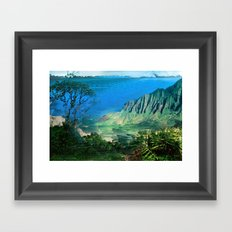 The Glitch Escape Framed Art Print