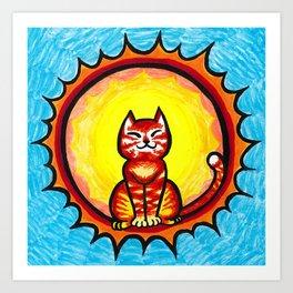 Suncat Art Print