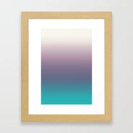Ombré, Purple, Blue, Green, Pink, Teal, Color Blend Framed Art Print