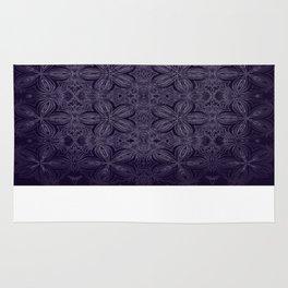 Dark Purple Delicate Flowers Rug