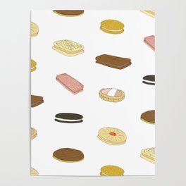 biscui - biscuit pattern Poster