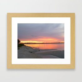 Sunset Waters Framed Art Print