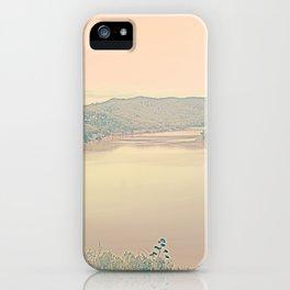 Pastel pink orange clear calm romantic Mellow River iPhone Case