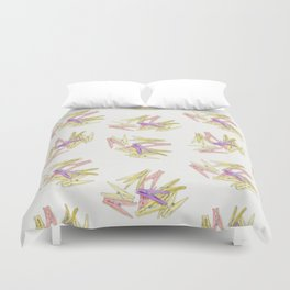 Сlothespins Duvet Cover