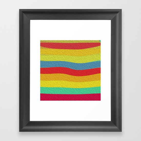Bright Color Lineup Framed Art Print