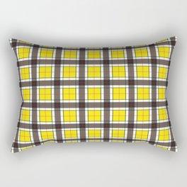 Yellow Plaid Pattern Rectangular Pillow