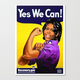 """""""Recovery.gov"""", Michelle Obama as Rosie the riveter. Canvas Print"""