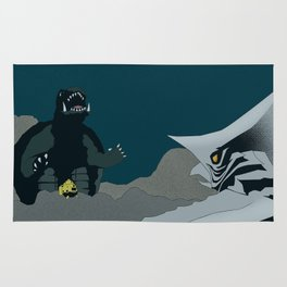 Gamera vs. Zigra Rug