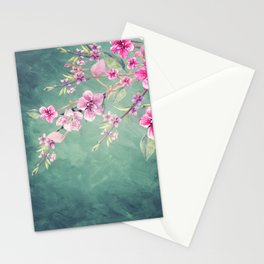 Vintage Garden (Peach Blossoms) Stationery Cards