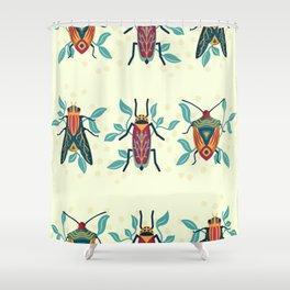 Playful Bug Garden Shower Curtain