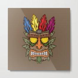 Tiki Metal Print