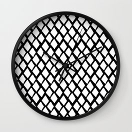 Rhombus White And Black Wall Clock