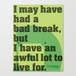 Bad Break Canvas Print