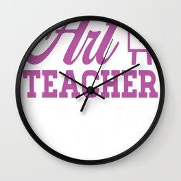 Art teacher - power copy Wall Clock