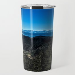 View of the Olympic Mountains Travel Mug
