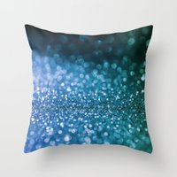 bisexual Throw Pillows featuring Foam on the sea by Better HOME