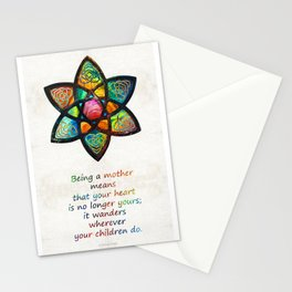 Mother Mom Art - Wandering Heart - By Sharon Cummings Stationery Cards