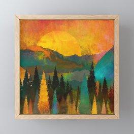 The Sunset Framed Mini Art Print