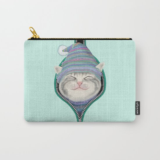 Cat in the zip Carry-All Pouch