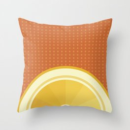 Orange I Throw Pillow