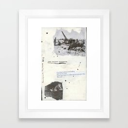 The second notebook Framed Art Print