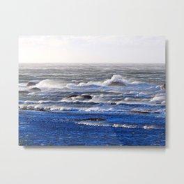 Wind Blown Stormy Seas Metal Print