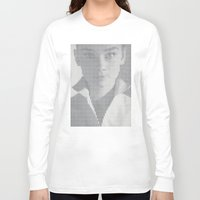 hepburn Long Sleeve T-shirts featuring Hepburn by Robotic Ewe