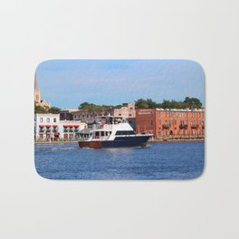 Sightseeing From Boat Bath Mat