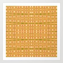 Aboriginal Dreamtime Art Stripes Art Print