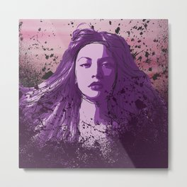 Spill the Wine Metal Print