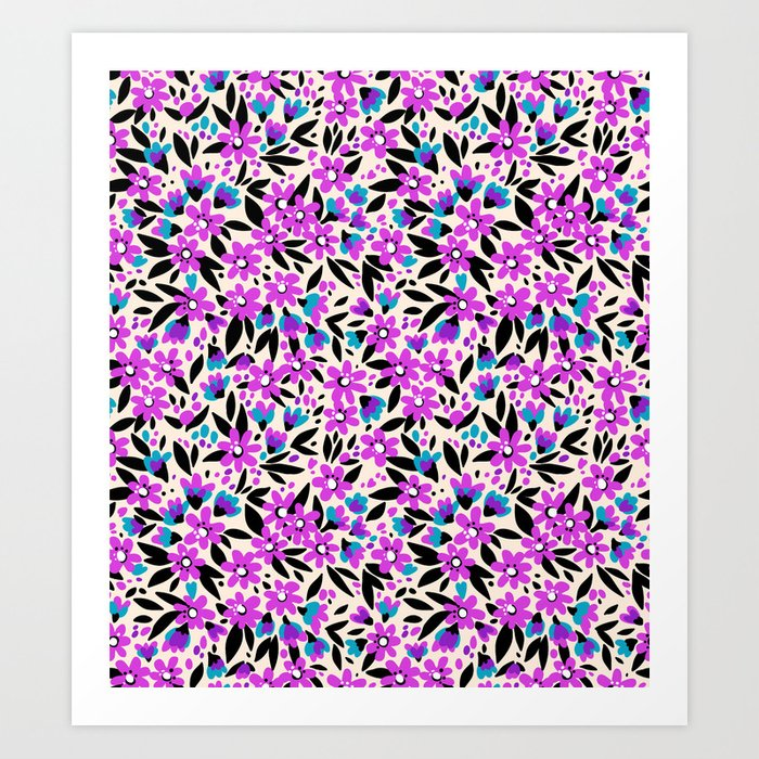 10 pretty pattern in small flower small purple flowers white 10 pretty pattern in small flower small purple flowers white background art print mightylinksfo