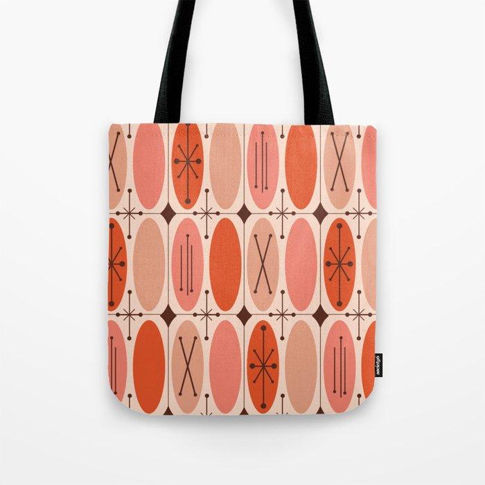 Atomic Era Ovals In Rows Orange Tote Bag
