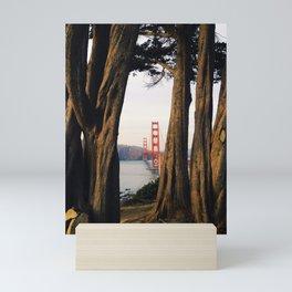 Gold through the Trees Mini Art Print