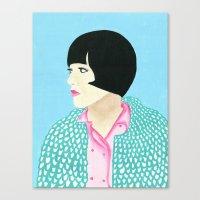 anna Canvas Prints featuring Anna by kate gabrielle