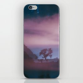 dreamy Joshua Tree at night iPhone Skin