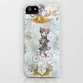 Two little circus girls iPhone Case
