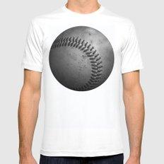 Baseball MEDIUM Mens Fitted Tee White