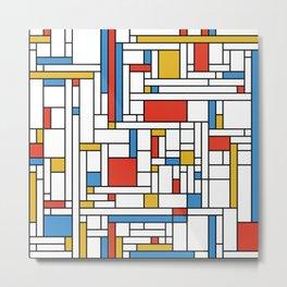 Mondrian meets Fibonacci Metal Print
