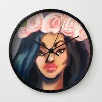 princess Wall Clocks featuring Princess by Jaleesa McLean