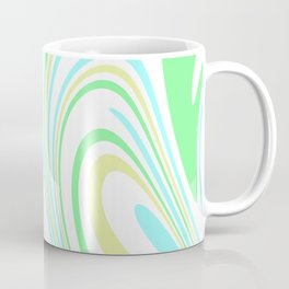 Blue, Yellow, and Green Waves 2 Coffee Mug