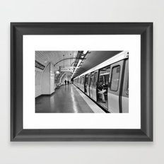 Paris, métro Framed Art Print